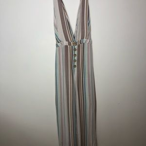 Wild Fable xxl overall colorful stripes